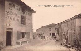 CPA CORVEISSIAT ( Ain ) - Hôtel GUERRIER Sa Cour Et Ses Dépendances - France