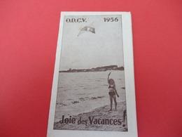 Petit Calendrier De Poche à 2 Volets / O.D.C V./Oeuvre Départementale Des Centres De Vacances De  Corréze/ 1956  CAL444 - Non Classificati