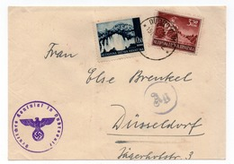 WWII  CROATIA, NDH, DUBROVNIK TO DUSSELDORF, FRONT ONLY - Kroatien