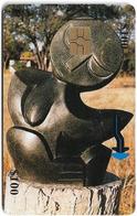 Zimbabwe - PTC - Sculpture 2 - 100Z$, Chip Gem Red, Exp. 12.2001, 70.000ex, Used - Simbabwe