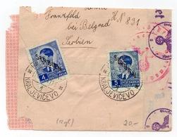 1941 WWII, GERMAN OCCUPATION OF SERBIA, KRALJEVICEVO TO HANOVER, GERMANY, CENSORED - 1945-1992 Socialist Federal Republic Of Yugoslavia