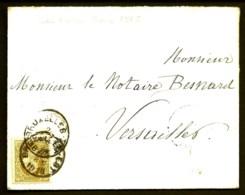 LETTRE ANCIENNE BELGIQUE- TIMBRE N° 32- CAD BRUXELLES 1878- CAD BLEU D'ENTRÉE EN FRANCE- 2 SCANS - 1869-1883 Leopold II.