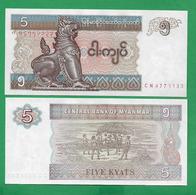MYANMAR - 5 KYAT - 1996 - UNC - Myanmar