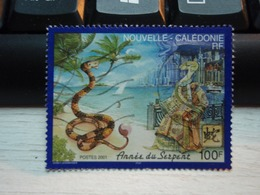 Timbre Nouvelle-Calédonie Année Du Serpent. Année 2001 - Usados