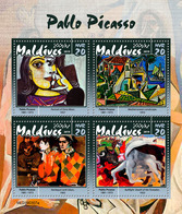 MALDIVES 2019 - P. Picasso, Bull. Official Issue - Cows