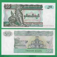MYANMAR - 20 KYAT - 1996 - UNC - Myanmar