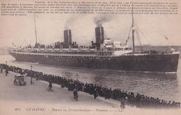 76 Le Havre, Départ Du Transatlantique 'Provence' - Paquebots