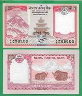 NEPAL - 5 RUPEES - 2012 – UNC - Nepal