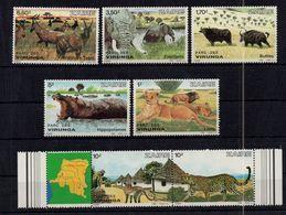 Zaire - Lion.Elephant.Hippo.Buffalo -MNH** - G106 - Stamps
