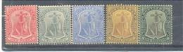 Monserrat 1908-13 MNH,MLH Groupe Stamps Mih.81e - Montserrat
