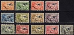 NEW GUINEA Nouvelle-Guinée Aministration Australie Surcharge Air Mail Pa 1 à 13 * MLH Signé Signed (CV 450 €) - Papouasie-Nouvelle-Guinée