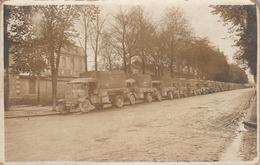 Carte Photo Militaire  : Convoi Militaire Prét à Partir Au Front : Camions Berlier - à Localiser - War 1914-18