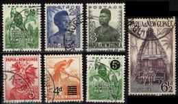 PAPUA & NEW GUINEA Papouasie & Nouvelle-Guinée Lot 7 Timbres 1 2 3 5 7 & 16 41(o) - Papouasie-Nouvelle-Guinée