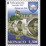 Monaco 2019 - Romans-sur-Isère Et Valmont ** (anciens Fiefs Des Grimaldi) 2 Timbres - Monaco