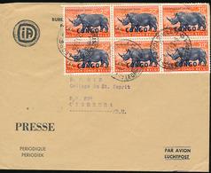 CONGO KINSHASA COVER FROM LEO. 19.12.62 TO USUMBURA - Republic Of Congo (1960-64)