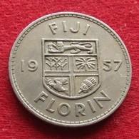 Fiji 1 One Florin 1957 KM# 24  *V2 - Fidschi