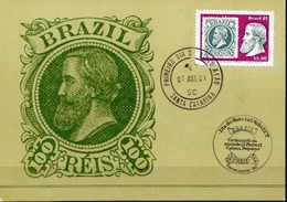 Brazil Stamp On Maximum Card - Stamps On Stamps