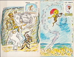 Brazil 2 Stamps On Maximum Cards - Childhood & Youth
