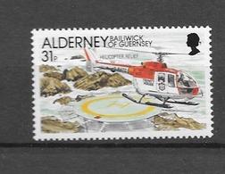 2001 MNH Alderney, Postfris** - Helicópteros