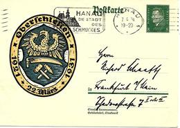 Hanau, Flamme Sur Entier Postal Illustre 1931 - Alemania