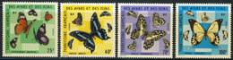 """1975 French Territory Issas MNH OG Complete Set Of 4 Stamps """"Butterflies"""" Yt. 404-07 Cat Euro 34, Nice Set! - Afars Et Issas (1967-1977)"""