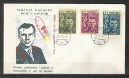 ALBANIA - FDC - Space - Gagarin - Red Overprint - 1962 - Albania