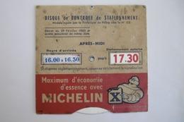 Disque De Contrôle De Stationnement MICHELIN (Bibendum Michelin) - Biglietti Di Trasporto
