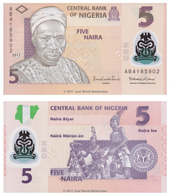 NIGERIA - 5 NAIRA - 2013 – POLYMER - UNC - Nigeria