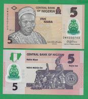 NIGERIA - 5 NAIRA – 2016 – POLYMER – UNC - Nigeria