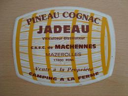 AUTOCOLLANT PINEAU COGNAC JADEAU MAZEROLLES 17800 PONS - Stickers