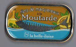 Proche De La Puxisardinophilie - Boite à Maquereaux à La Moutarde (vide)  - La Belle-iloise - Andere Verzamelingen