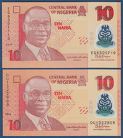 NIGERIA - 10 NAIRA - 2017 – POLYMER - UNC - Nigeria