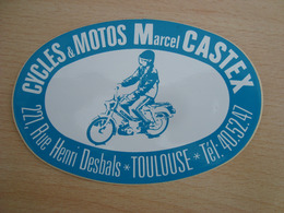 AUTOCOLLANT CYCLES & MOTOS MARCEL CASTEX TOULOUSE - Stickers