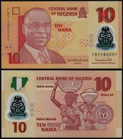 NIGERIA - 10 NAIRA - 2018 – POLYMER - UNC - Nigeria