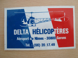 AUTOCOLLANT DELTA HELICOPTERES NIMES 30800 GARONS - Stickers
