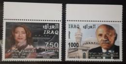 Iraq 2016 MNH NEW ISSUE - Famous Architects Zaha Hadid & Mohamadmd Makyah - Iraq