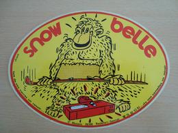 AUTOCOLLANT SNOW BELLE  SAINT MAMANS 26300 ROCHEFORT-SAMSON - Stickers