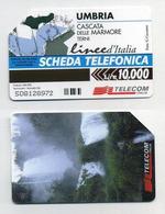 Télécarte Italienne 10000 Lire - Scheda Telefonica Italiana - Umbria, Cascata Delle Marmore Terni. Linee D'Italia - Italie