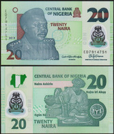 NIGERIA - 20 NAIRA - 2018 – POLYMER - UNC - Nigeria