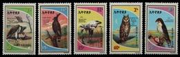 Äthiopien 1980 - Mi-Nr. 1042-1046 ** - MNH - Vögel / Birds - Äthiopien