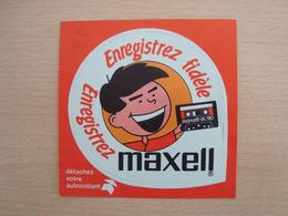 AUTOCOLLANT MAXELL - Stickers