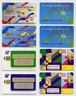 Lot De 4 Cartes à Puces Téléphoniques Roumaines. RomTelecom 1995 Et 1997. Phonecards/Cartela/Schede Telefonice - Roumanie