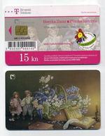 Carte à Puce Téléphonique Croatie Hrvatska. Phonecard Scheda Cartela Callcard 15 Kuna. Biserka Zlatar Plinska Lanterna - Croatie