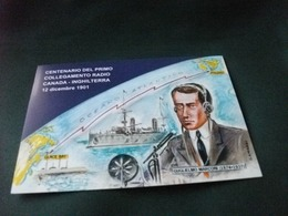 STORIA POSTALE FRANCOBOLLO ITALIA GUGLIELMO MARCONI 100° COLLEGAMENTO RADIO CANADA INGHILTERRA NAVE SHIP CARLO ALBERTO - Premi Nobel