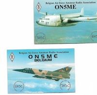 Air Force Belgian 2 Post Card Army - Aviazione