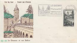 Enveloppe  FDC   Flamme   1er Jour    FRANCE    8F  LE   QUESNOY    1957 - 1950-1959