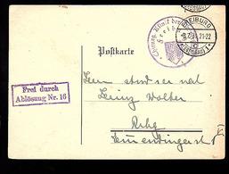 1931 Freiburg FREI DURCH ABLÖSUNG Nr. 16 Ortopädischen Sprechstunde Albertstrasse 5  (828) - Allemagne