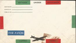J) 1950 MEXICO, PROOF, SYMBOL OF FLIGHT, PRINT, AIRMAIL, POSTAL STATIONARY - Mexico