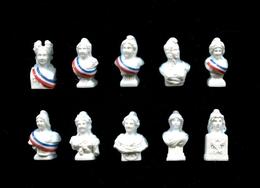 Serie Complete De 10 Feves Marianne Symbole De Liberte - Histoire