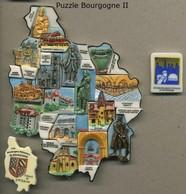 Serie Complete De 18 Feves Puzzle De Bourgogne II - Région
